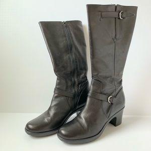 Dansko Black Tall Boots with Heel